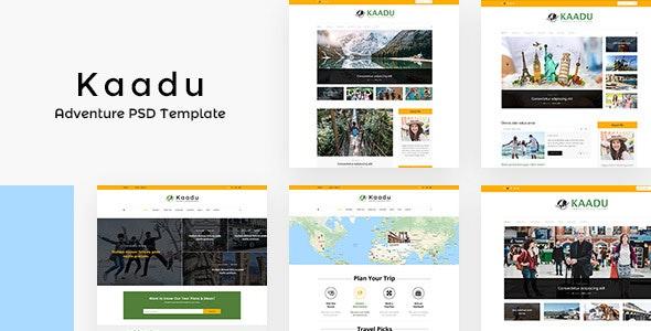 Kaadu | Adventure, Travel Blog PSD - Photoshop UI Templates
