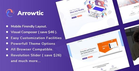 Arrowtic - Digital Marketing Agency WordPress Theme - Marketing Corporate