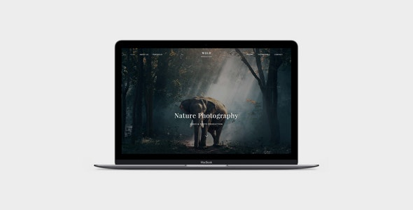 WILD - Photographer & Videographer Portfolio Muse Template - Creative Muse Templates