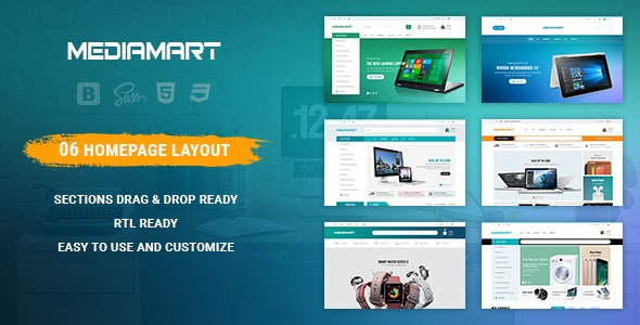 Mediamart - Responsive Shopify Theme - Technology Shopify