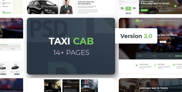 TAXI Cab PSD Template - Travel Retail