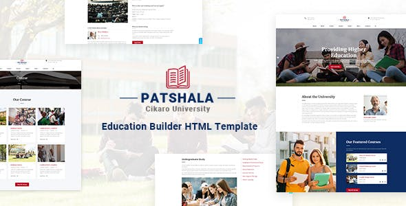 Patshala – Education HTML Template with Page Builder by codecarnival