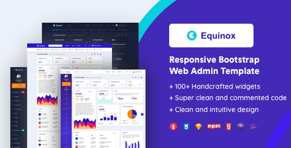 Equinox Responsive Bootstrap Admin Template