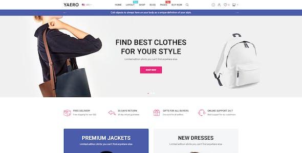 Yaero - Responsive eCommerce PSD Template