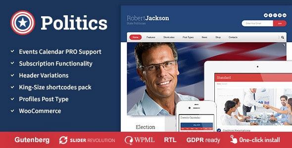 Politics -  Election Campaign Political WP Theme - Political Nonprofit