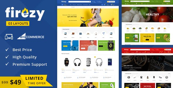 Firezy - Multipurpose Stencil BigCommerce Theme nulled theme download