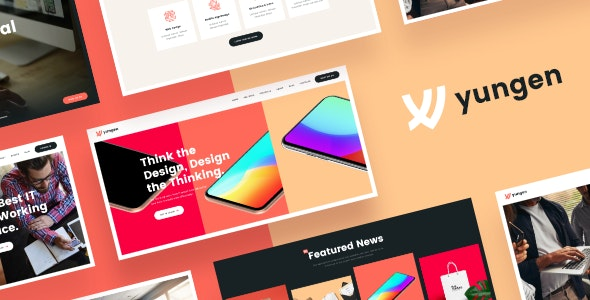 Yungen | Modern Digital Agency Business WordPress Theme - Business Corporate