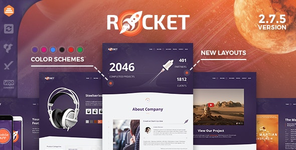 Rocket - Creative Multipurpose WordPress Theme by dan_fisher
