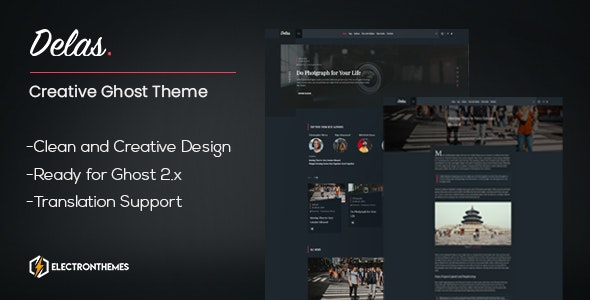 Delas -  Creative Ghost Portfolio and Magazine Theme - Ghost Themes Blogging