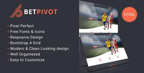 Betpivot - Sports Landing Template nulled theme download
