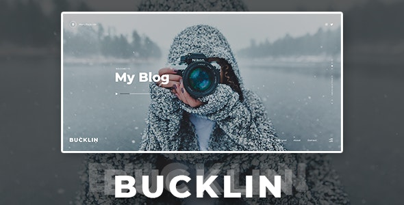 Bucklin - Creative Personal Blog HTML Template - Creative Site Templates