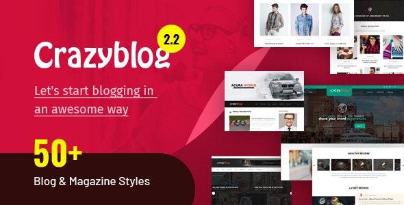 CrazyBlog - Start A Blog or Magazine for Adsense or Affiliate Business - Blog / Magazine WordPress