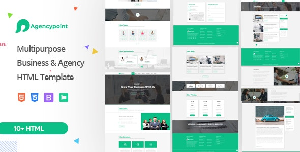 AgencyPoint - Responsive Agency Bootstrap4 HTML Template - Business Corporate
