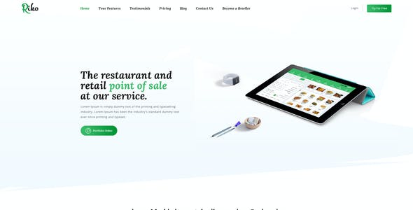 Riko- Retail & Resturant Point of Sale Landing Page PSD Template