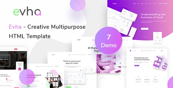Evha - Creative Multipurpose HTML Template - Creative Site Templates
