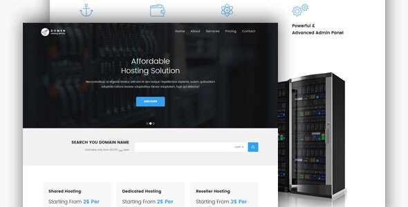 Domen - HTML Hosting Template - Technology Site Templates