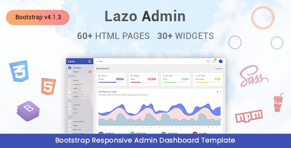 Lazo - Responsive Admin Dashboard Template - Admin Templates Site Templates