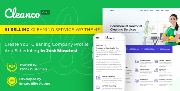 Cleanco 3.0 - Cleaning Service Company WordPress Theme - Business Corporate
