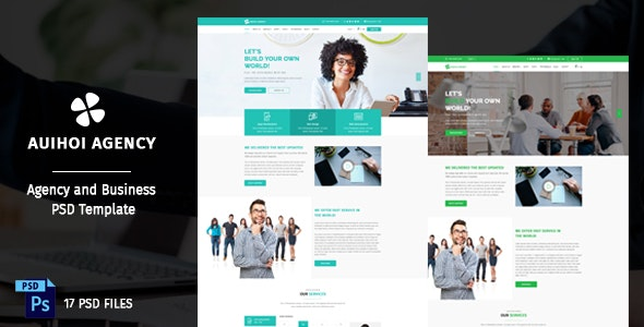 Auihoi - Business and Agency PSD Template - Business Corporate