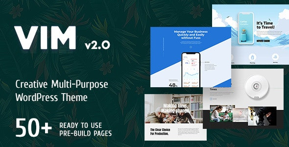 VIM - Creative Multi-Purpose WordPress Theme - Creative WordPress
