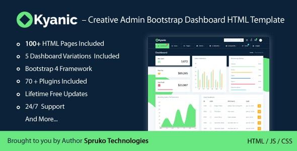 Kyanic – Creative Admin Multipurpose Responsive Bootstrap Dashboard HTML Template - Admin Templates Site Templates