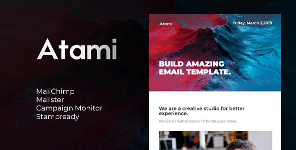 Atami| Email Newsletter - Email Templates Marketing