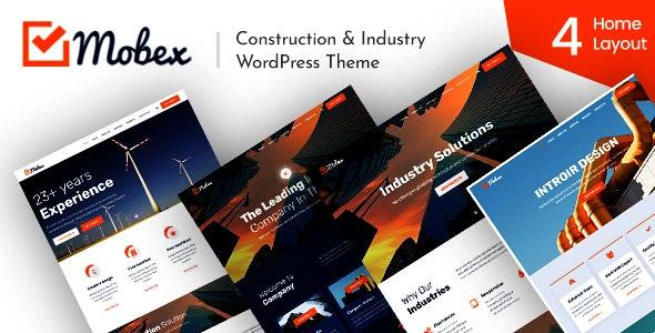 Mobex - Construction & Industry WordPress Theme - Corporate WordPress