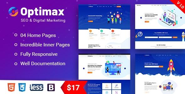 Optimax - SEO & Digital Marketing Agency Bootstrap 4 Template - Marketing Corporate
