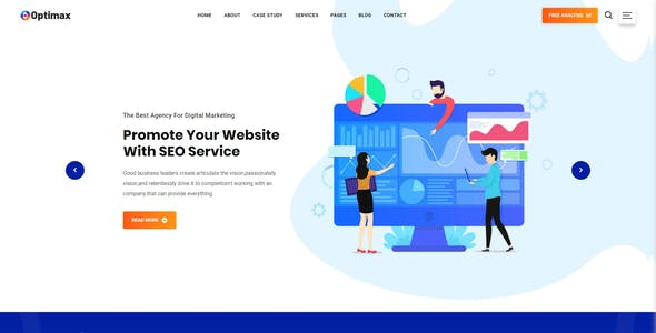 Optimax - SEO & Digital Marketing Agency Bootstrap 4 Template
