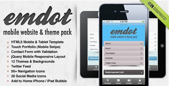 Emdot - Mobile Website & Template Pack - Mobile Site Templates