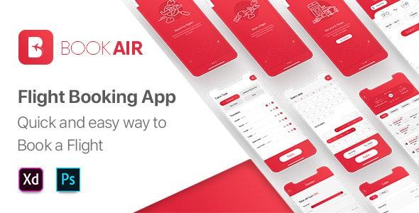 BookAir – Adobe XD UI Kit for Mobile App - Travel Retail