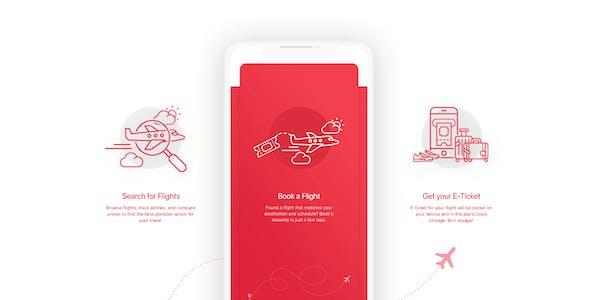 BookAir – Adobe XD UI Kit for Mobile App
