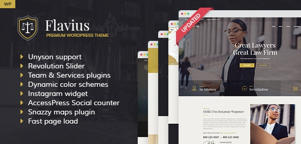 Flavius - Lawyer and Attorney WordPress Theme - Business Corporate