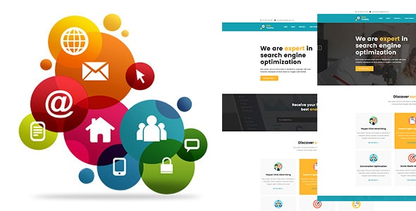 SEO TRAFFICE - Social media marketing, Finance and Consulting HTML5 Template - Corporate Site Templates