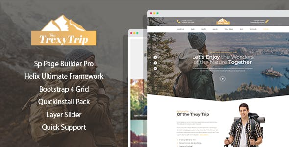 Mountis - Hiking And Outdoor Club Joomla Template with Page Builder