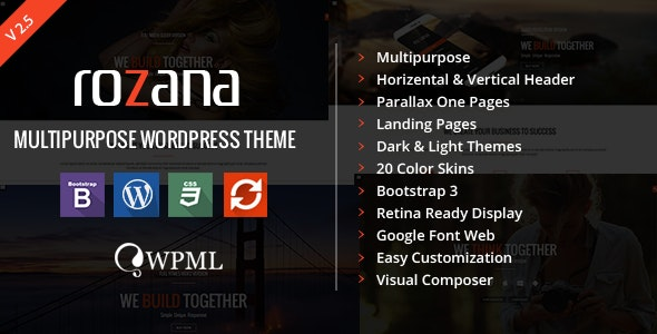 Rozana - Responsive MultiPurpose WordPress Theme - Corporate WordPress