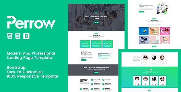 Perrow - Responsive Multipurpose Template - Corporate Site Templates