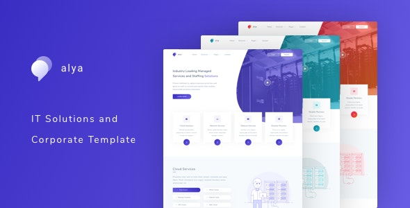 Alya - IT Solutions and Corporate Template - Computer Technology