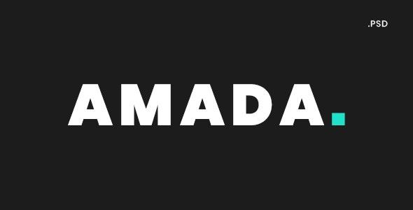 AMADA - Creative Portfolio PSD Template - Portfolio Creative