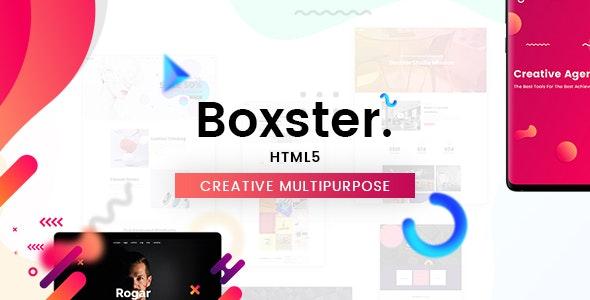 Boxster - Creative Multi-Purpose HTML5 Template - Creative Site Templates