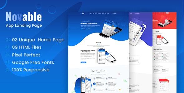 Novable - App Landing HTML5 Template - Technology Site Templates