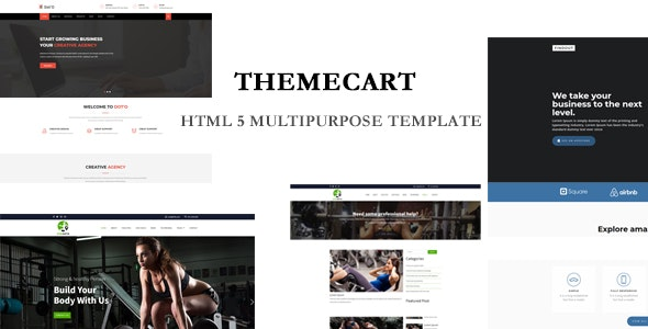 Themecart-  Multipurpose  HTML5 Responsive One / Multi Page Templates. - Health & Beauty Retail