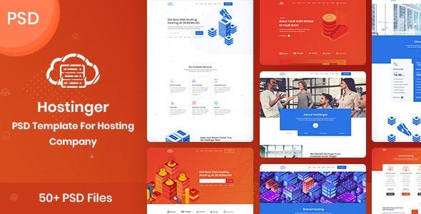 Hostinger - PSD Template For Hosting Company - Hosting Technology
