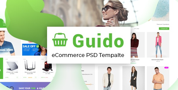 Guido - Creative complete eCommerce PSD template - Retail Photoshop
