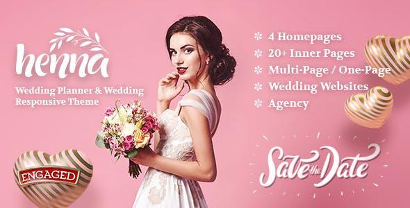 Henna - Wedding WordPress Theme nulled theme download