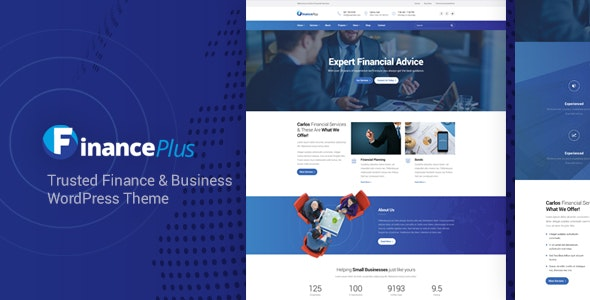 FinancePlus - Consulting Business WordPress Theme - Business Corporate