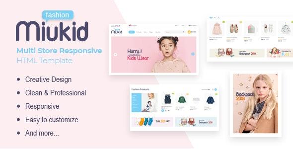 MiuKid - Multi Store Responsive HTML Template - Retail Site Templates