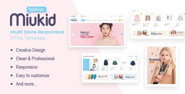 MiuKid - Multi Store Responsive HTML Template