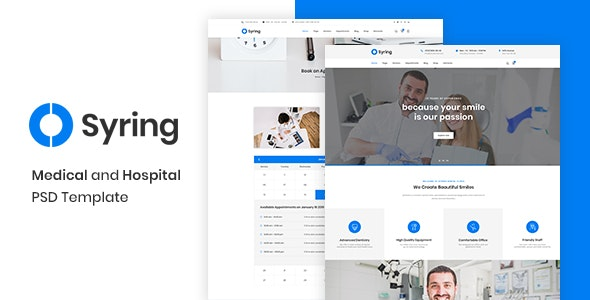Syring - Health Medical Clinic PSD Template - Health & Beauty Retail