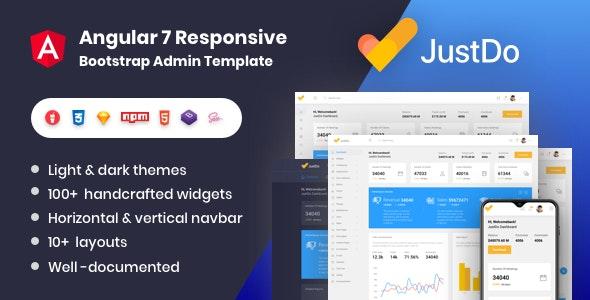 JustDo - Angular 8 Responsive Bootstrap Admin Template - Admin Templates Site Templates